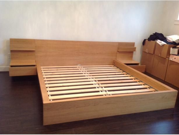 125 Ikea King Frame W Side Tables In Vancouver Bed Frame Design Bed Frame And Headboard King Bed Frame