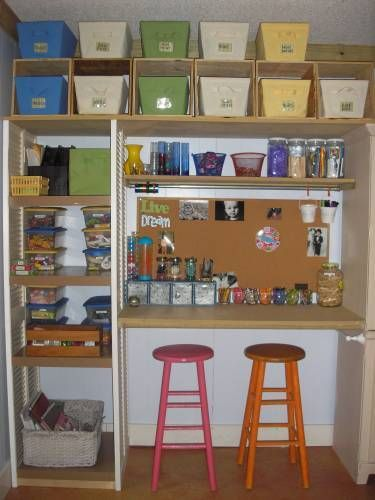 Perfect For A Craft Corner In The Garage Love The Colorful