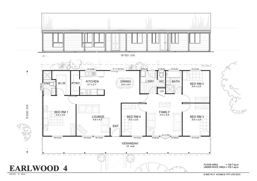 Met Kit Homes Floor Plans Earlwood 4 Affordable