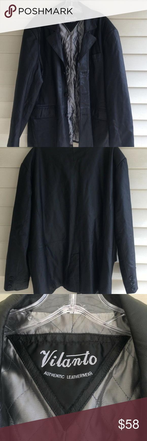 Vilanto Mens Authentic Leather Coat 2xl In 2020 Leather Coat Authentic Leather Clothes Design [ 1740 x 580 Pixel ]