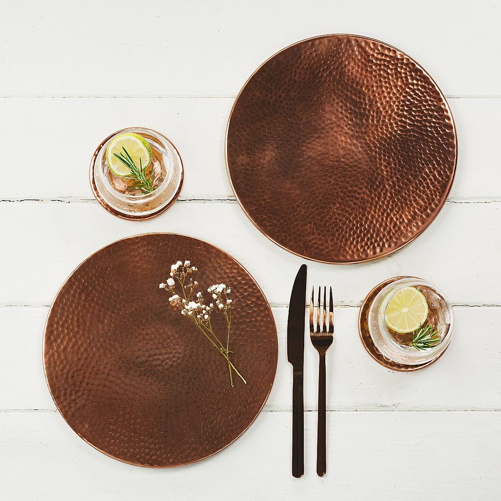 Copper Placemats Set Of 2 Trivet Copper Tableware Placemats Dining Table Copper