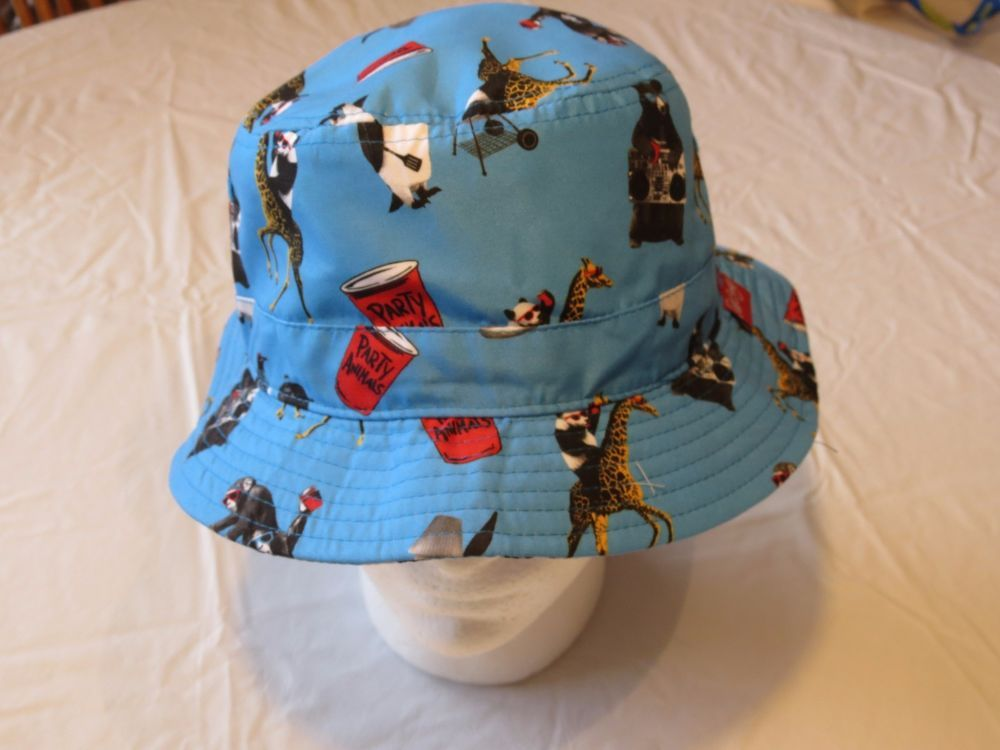 dd9e553c116 Riot Society BEER PONG solo cup party animal RARE Mens adult sun bucket hat  cap  RiotSociety  buckethatcap