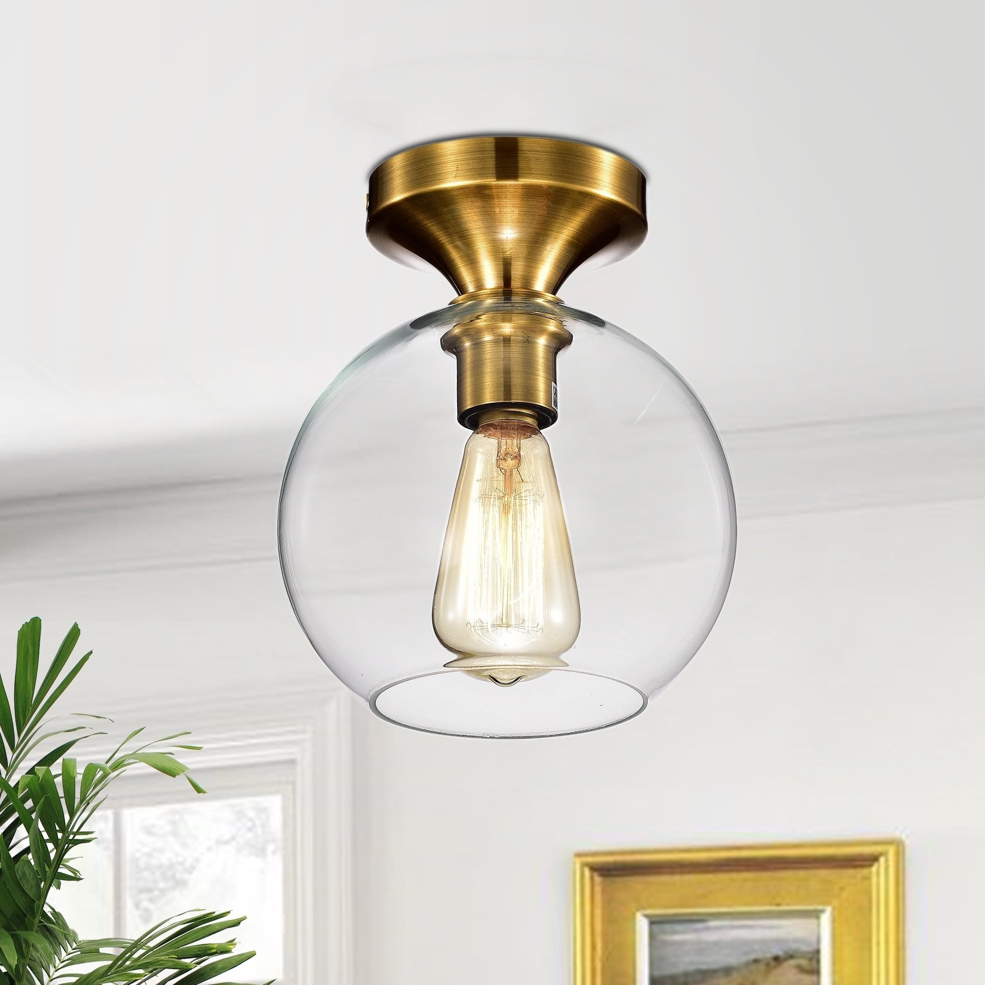 Gorden 1 Light Satin Gold Flushmount Ceiling Lamp Warehouse Of Tiffany Ceiling Lamp Light Satin Light