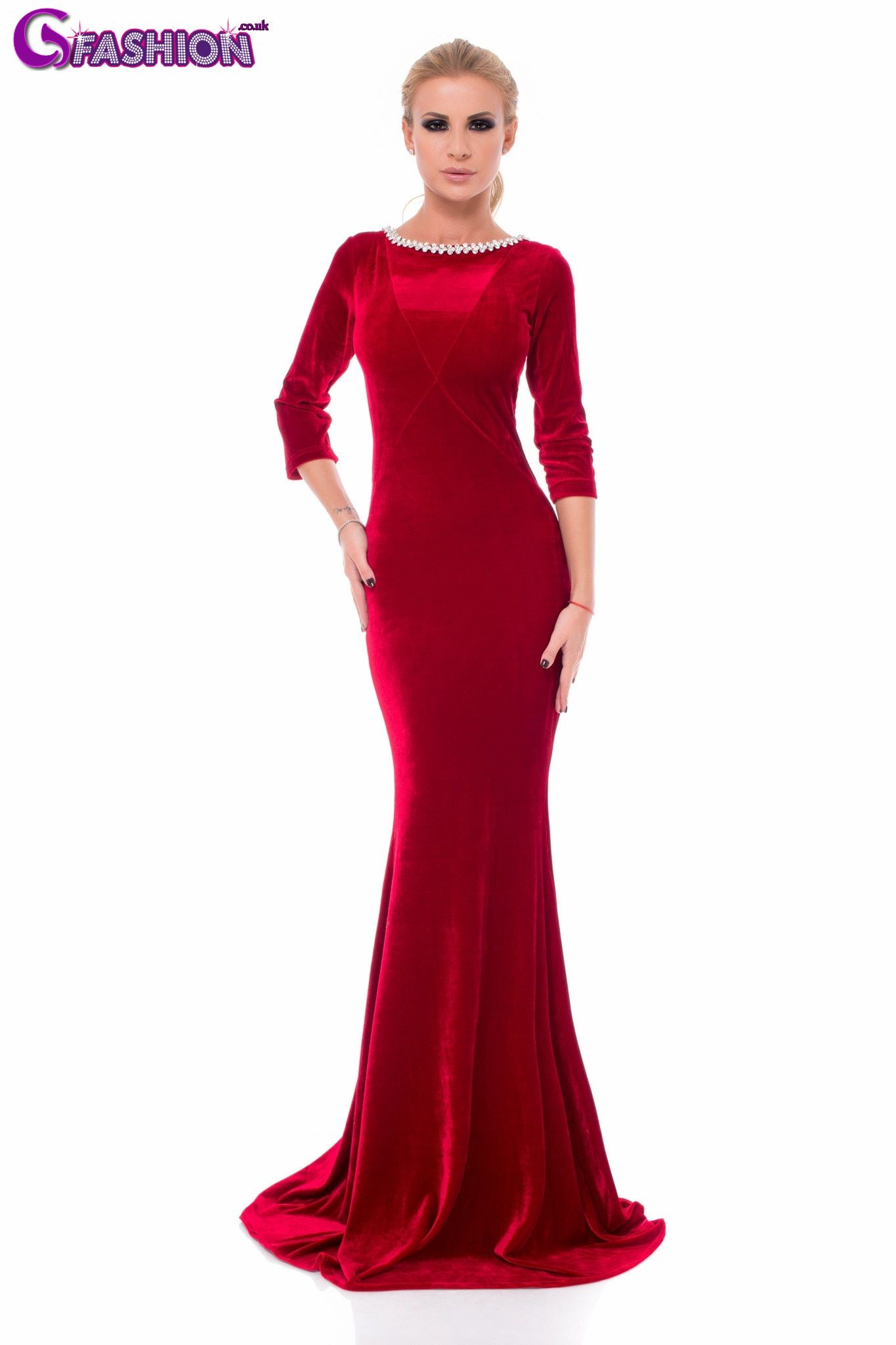 Velvet evening dresses long