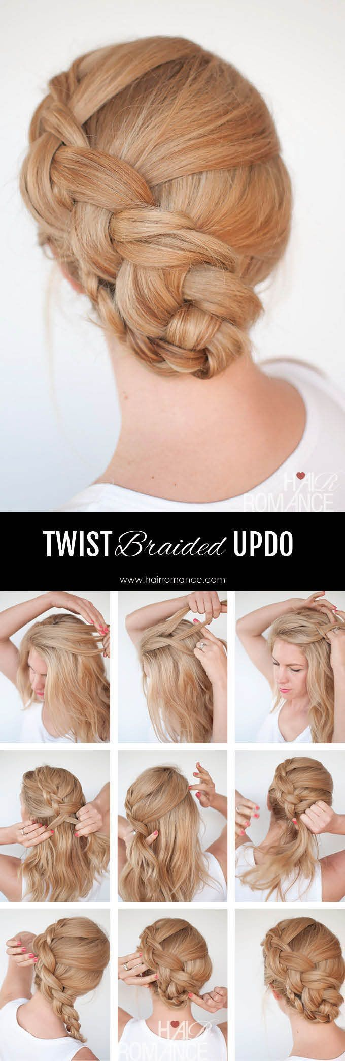 Nuevo tutorial de peinado de trenza – the twist braid updo – #Braid #Hairstyle #Tutoria …