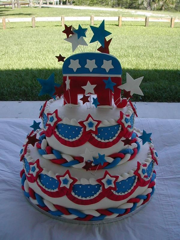 Republican cake! | Raised Right | Pinterest