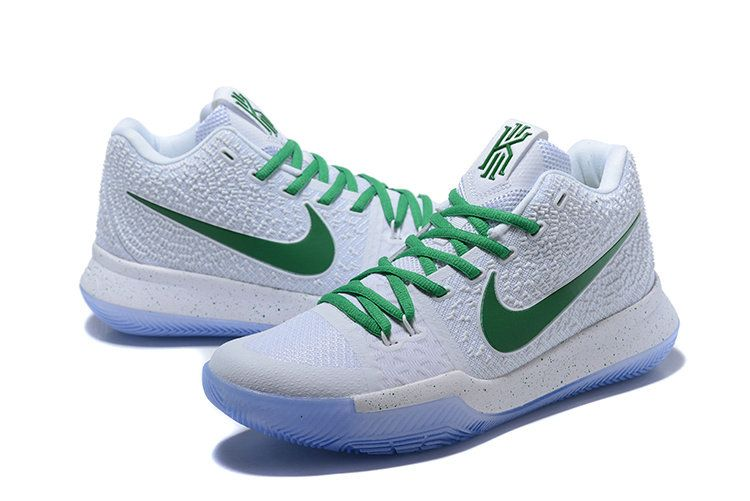 06f0929fcec6 Spring Summer 2018 Popular Nike Zoom Kyrie 3 Mens Basketball Shoes White  Cadmium Green