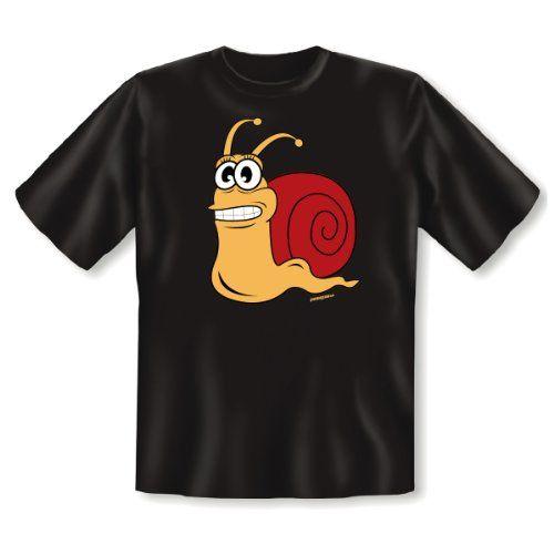 Fun T-Shirt: Schnecke - Schnecke was sonst! Schwarz, schnelles Mitbringsel für Langsame
