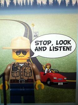 Legoland driving school stop look listen
