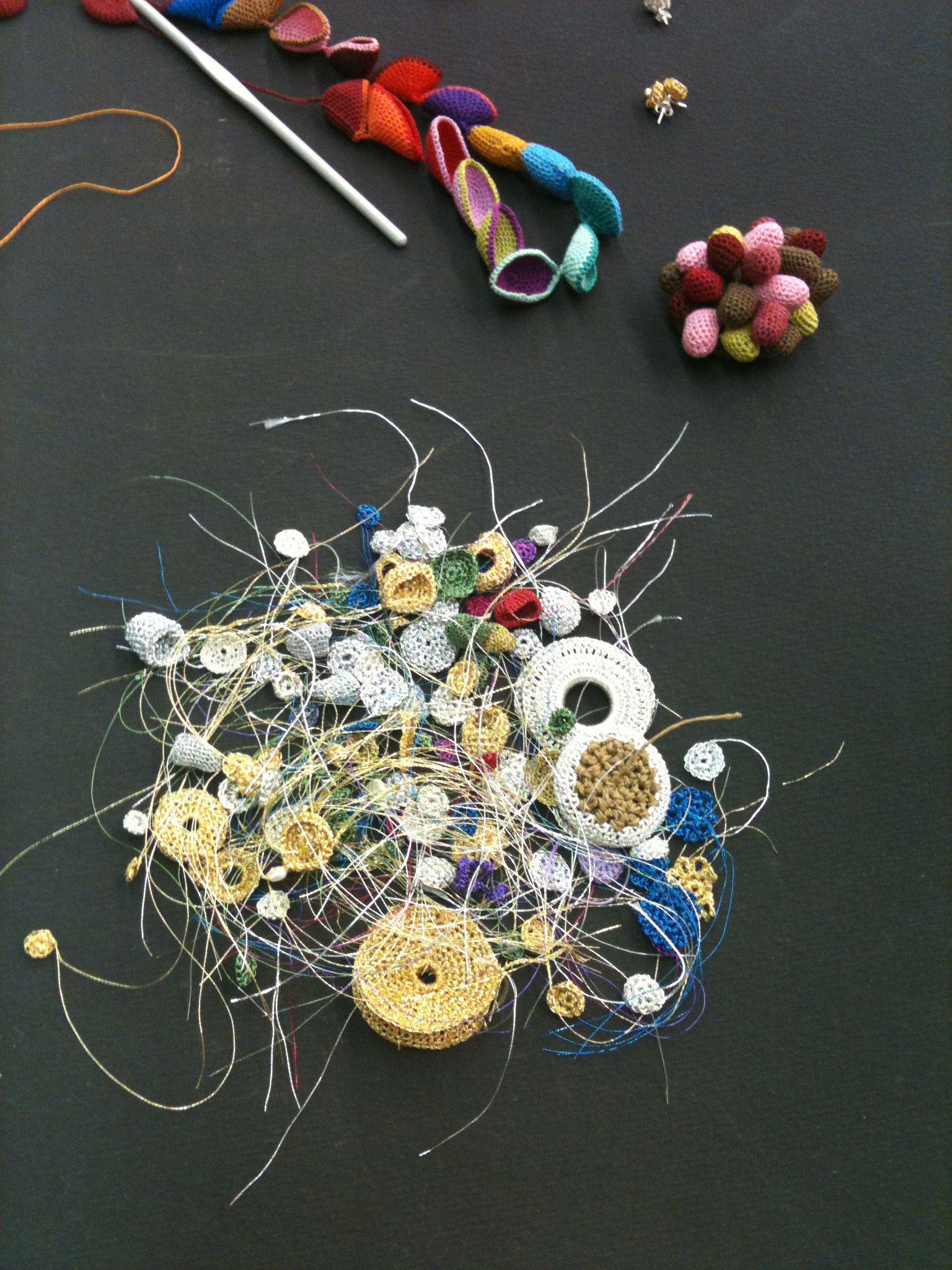 Gemma Pampalona crochet jewellery