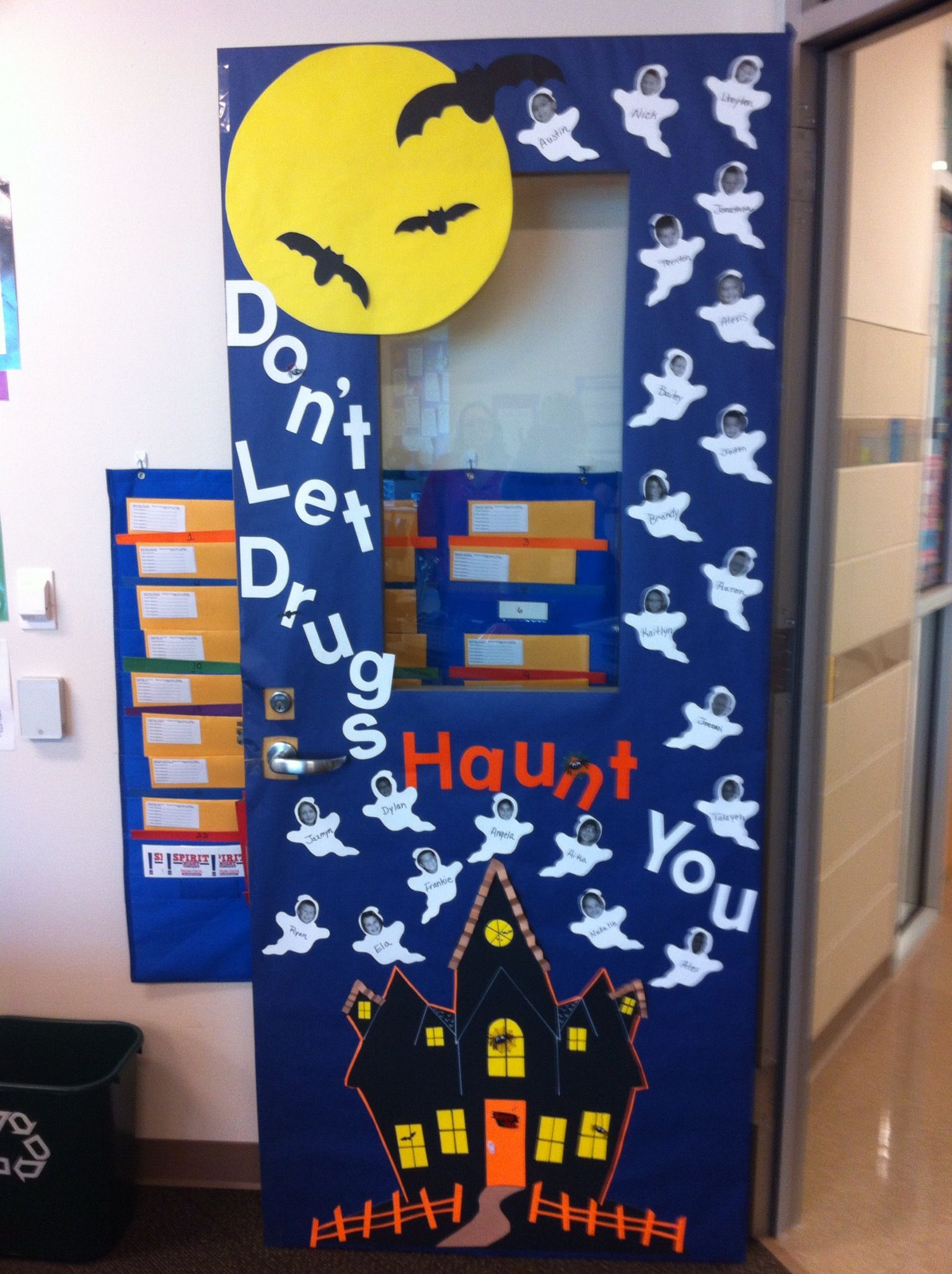 Classroom Halloween Decorations To Make ~ Got the door decorated for red ribbon week thanks mom