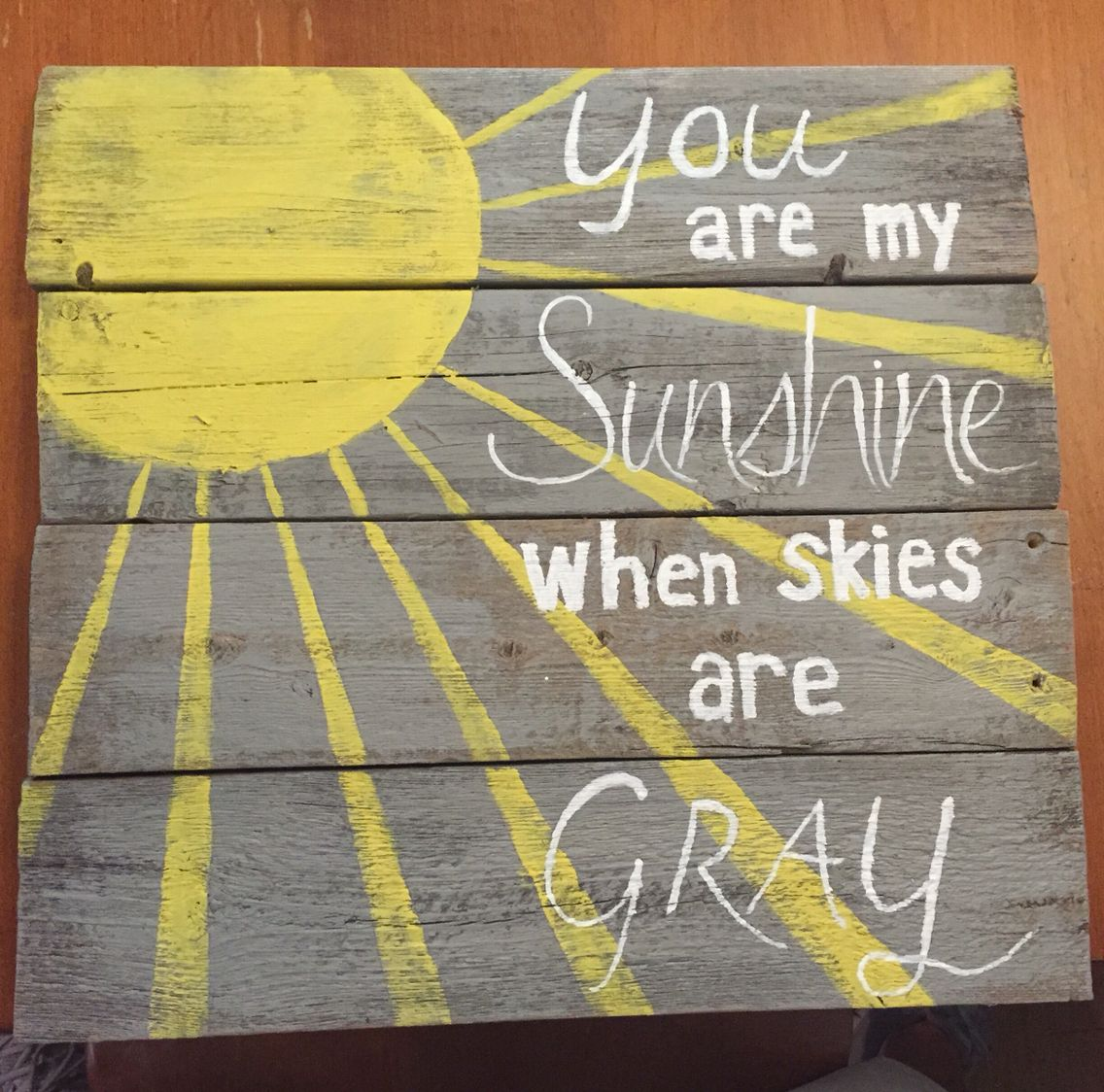 Reclaimed wood signed created by Shannon Steadman