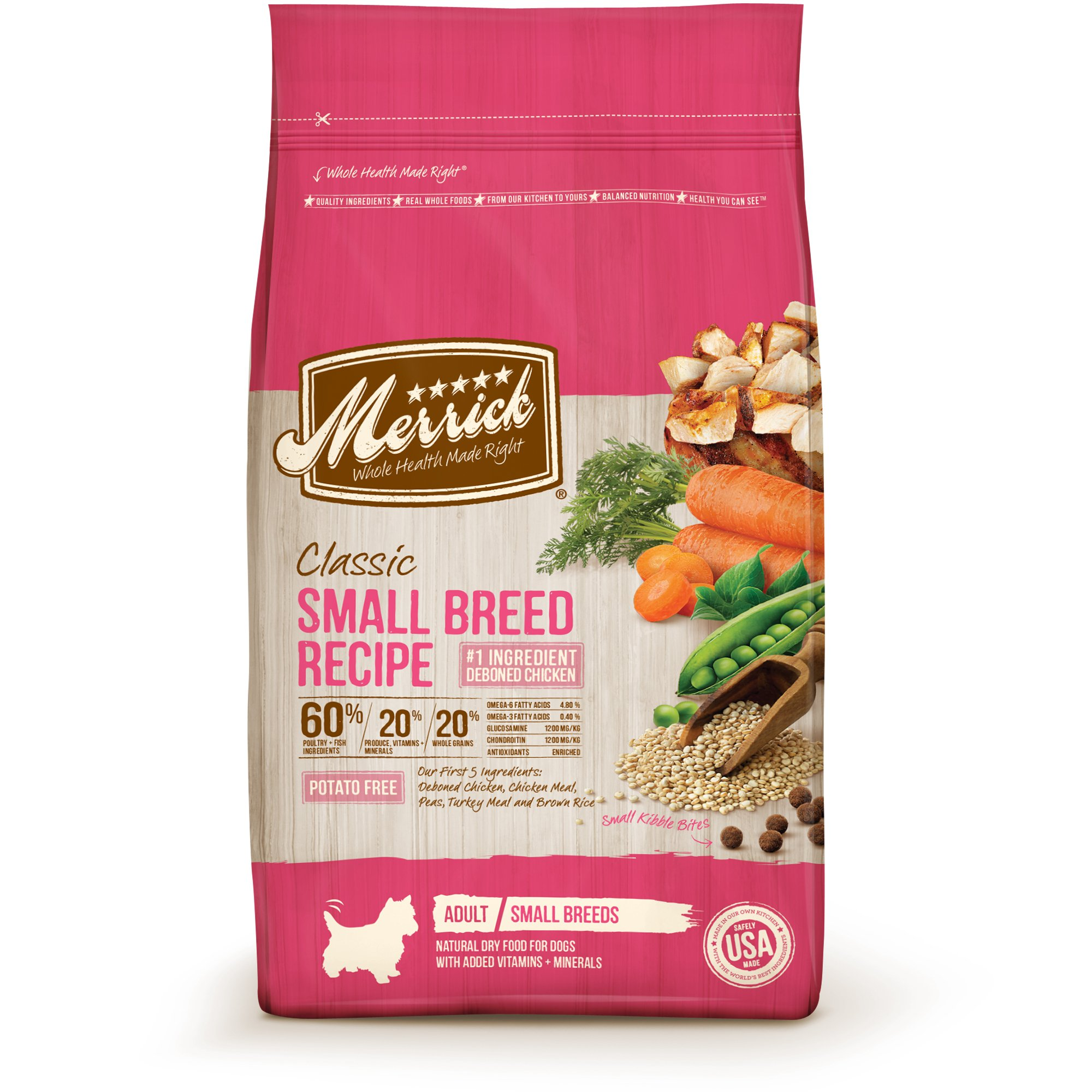 Merrick Classic Healthy Grains Small Breed Recipe Dry Dog Food 4