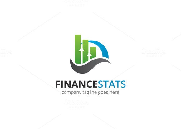 Finance Stats Logo by XpertgraphicD on Creative Market ...