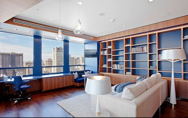 Exceptional Relaxing Area With Fancy Home Office Suspended Desk