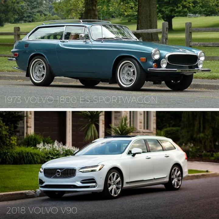 Tbt 1973 Volvo 1800 Es Sportswagon Vs 2018 Volvo V90 Volvo