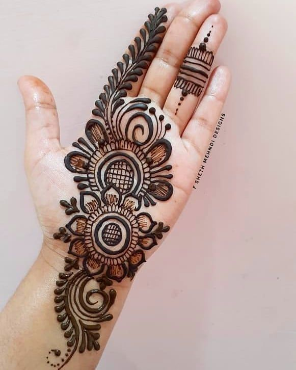 The traditional front hand mehndi design · 3. Free 80 Hartalika Teej Mehndi Designs 2020 Hartalika Teej Mehndi Design Images 2020 Full Hand Mehndi Designs Mehndi Designs For Hands Mehndi Designs Feet