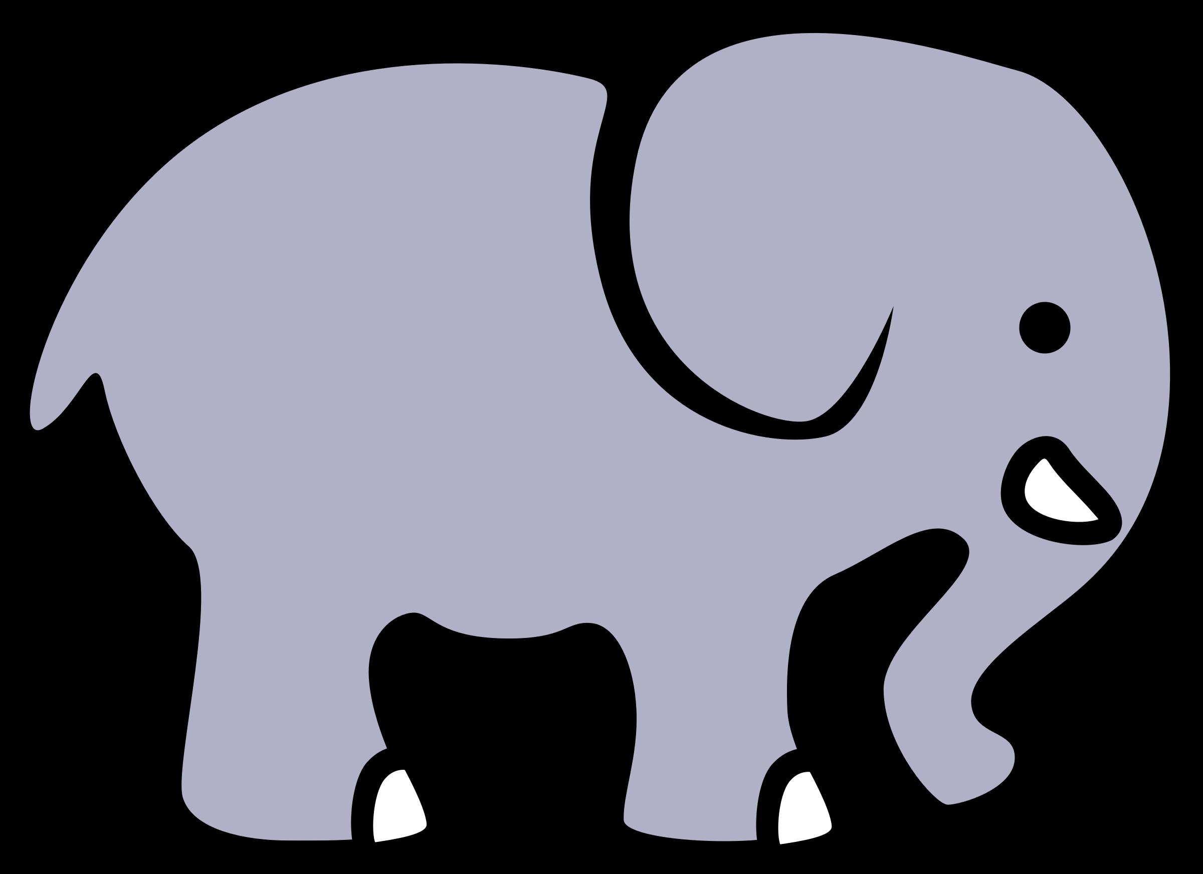2D cartoon elephant by @lemmling, A simple cartoon elephant, on