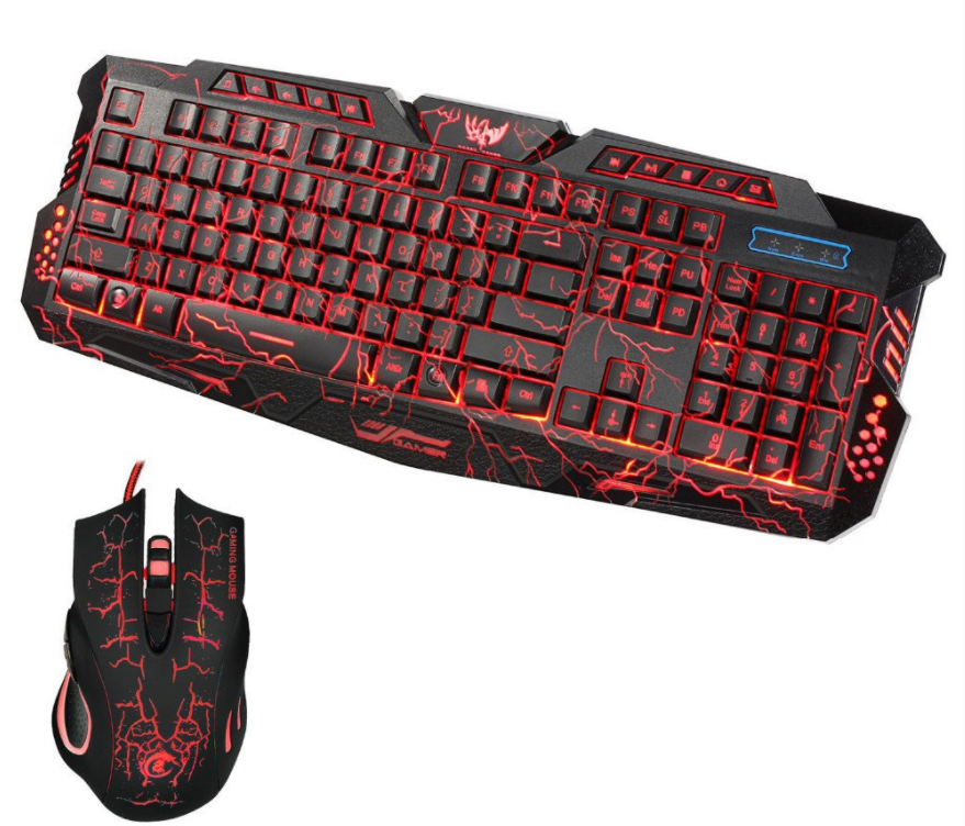 2017 Led Gaming 5500dpi Wire 2 4g Keyboard And Mouse Keyboard Computer Computer Accessories