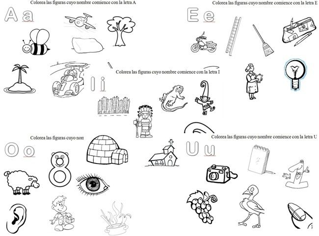 Dibujos que empiecen con -vocales Imagui | Vocales | Pinterest