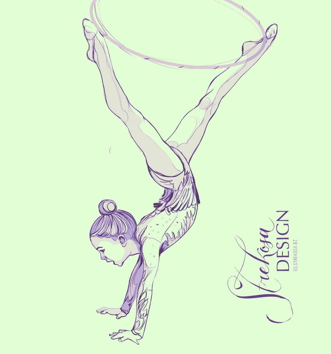 Рисунок я и спорт гимнастика