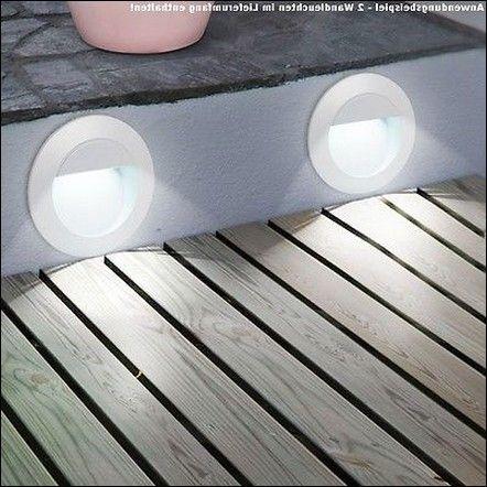 Beste Produkt 2er Set Außenbeleuchtung Led Wandlampen Terrassen Einbauleuchten Dxt
