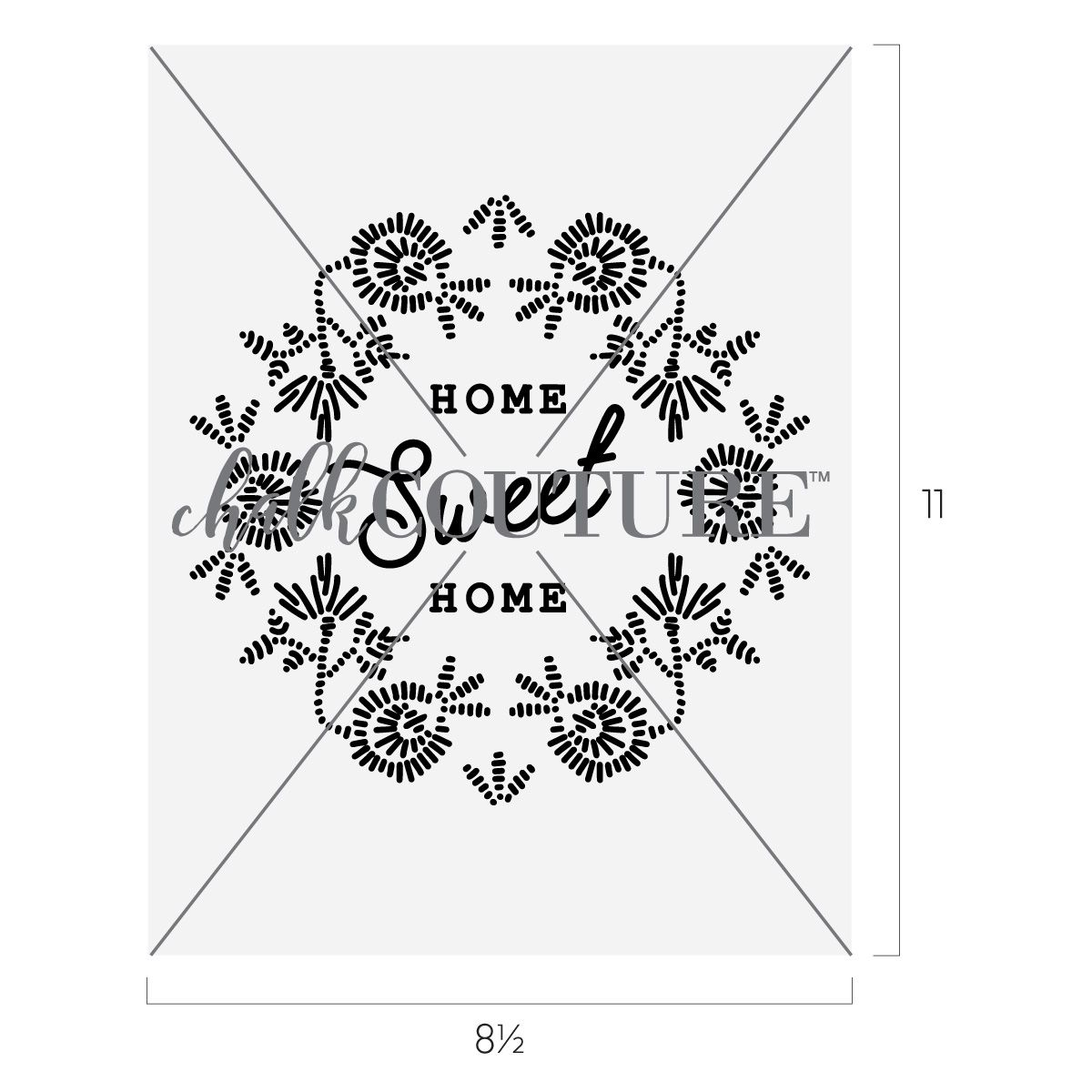 Handcrafted Home Sweet Home by Chalk Couture in 2020
