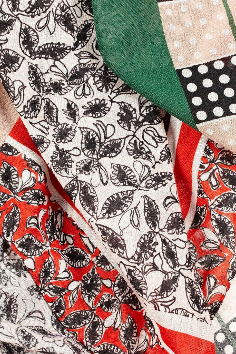 Marni|Foulard-print cotton-twill scarf|NET-A-PORTER.COM