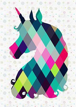 Poster Unicorn Quadro Sala De Estar Papel De Parede De