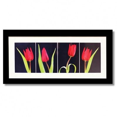 Red Tulips Framed Art   Wall Arts   Living Room Furniture Part 97