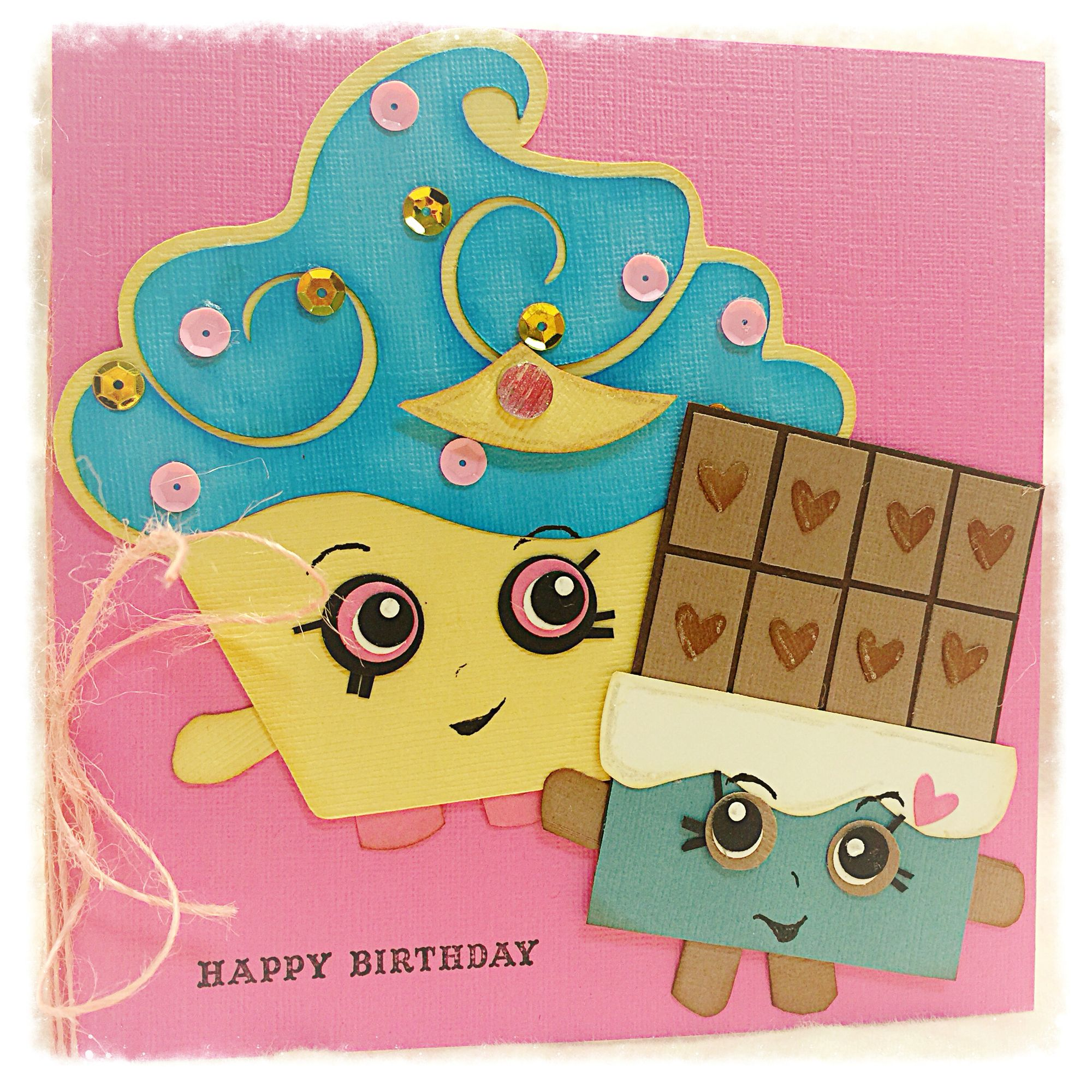 Shopkins birthday card made with cricut and punches and a lot of shopkins birthday card made with cricut and punches and a lot of creativity bookmarktalkfo Image collections