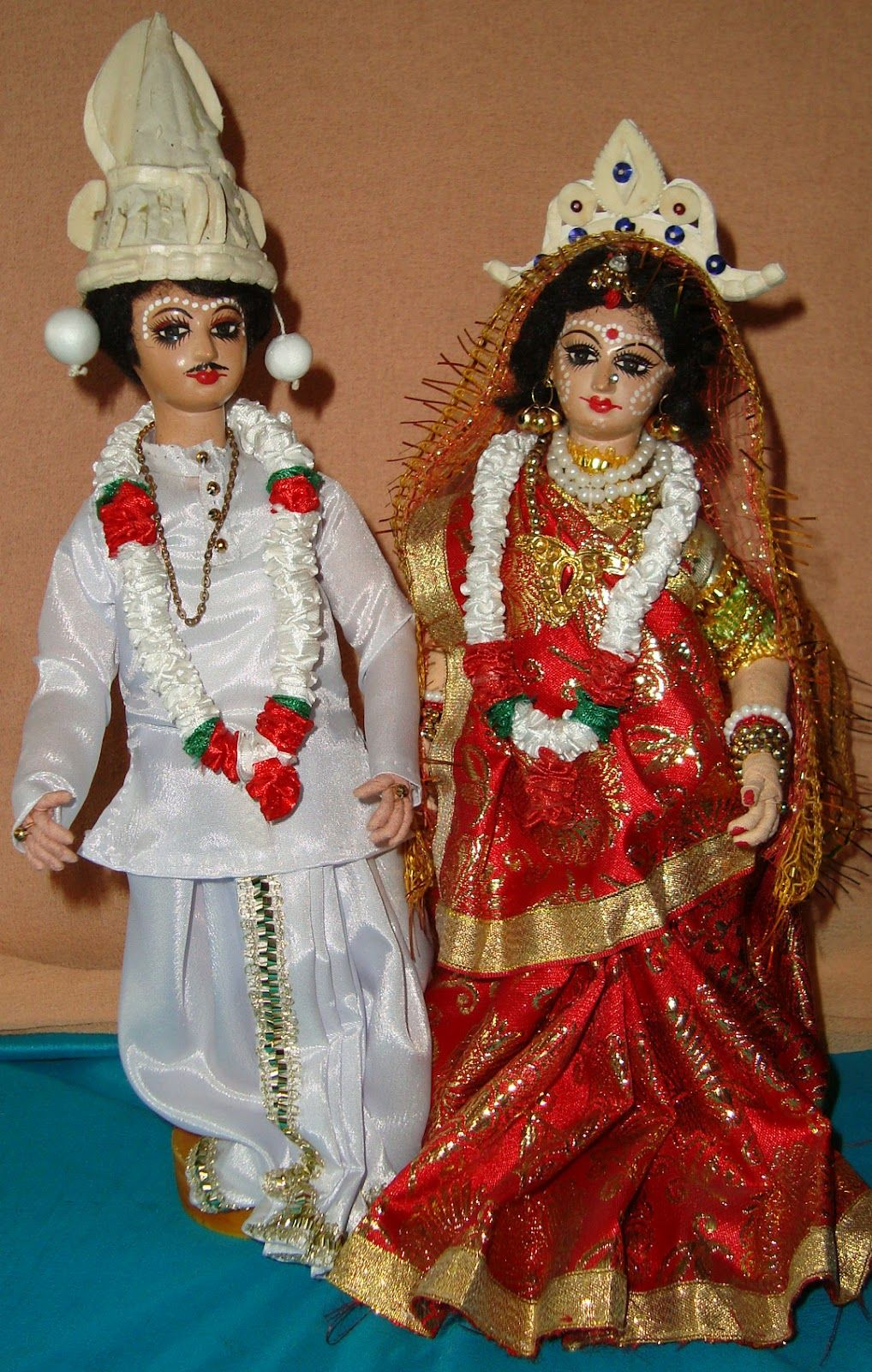 Bengali Bride Groom Dolls Indian Hand Made Dolls Dolls Indian