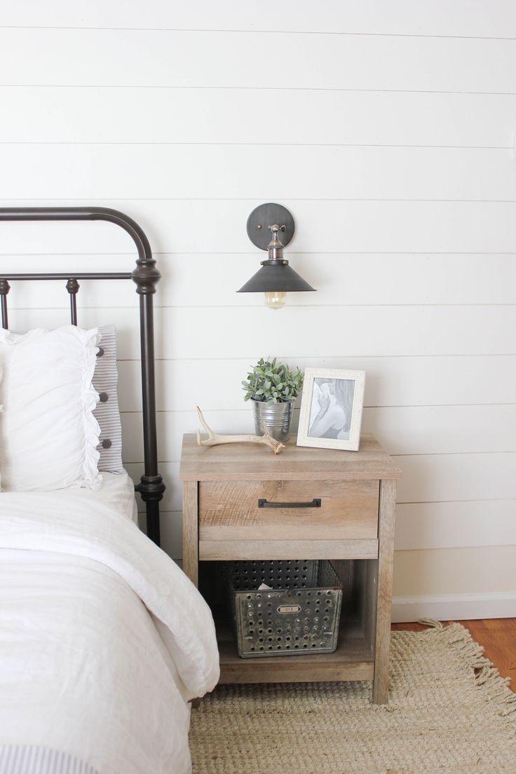 Master bedroom nightstand decor  Home  Farmhouse Master Bedroom  Farmhouse master bedroom Master