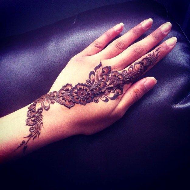 Arabic mehndi designs for back hands also henna design rh pinterest