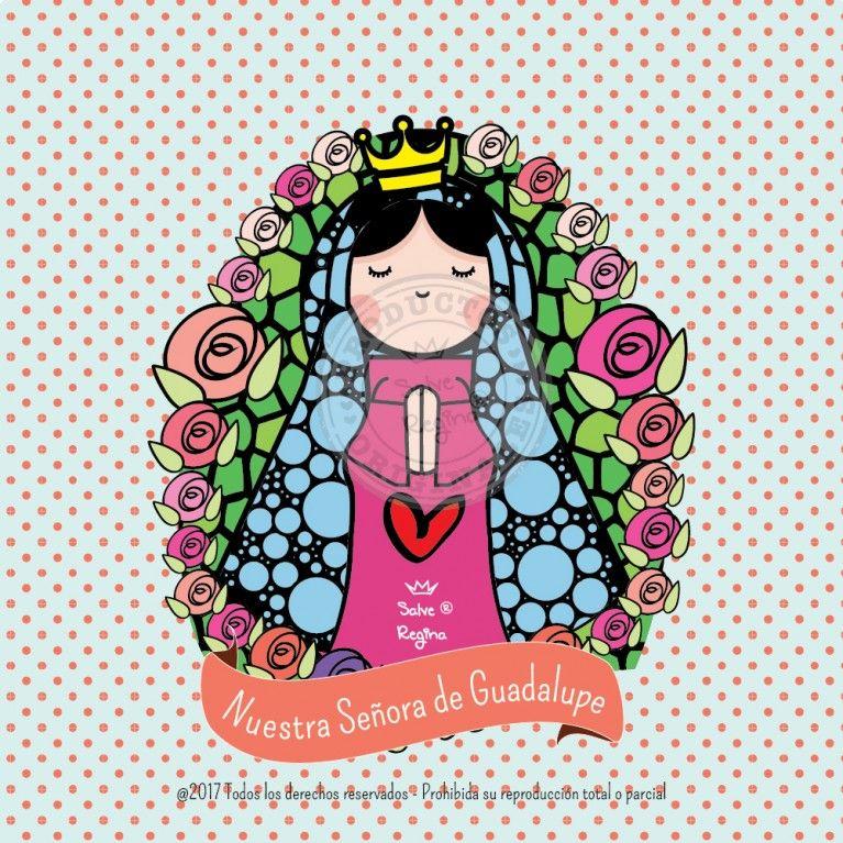 Nuestra Senora De Guadalupe Santoral Virgen Caricatura Nuestra Senora De Guadalupe