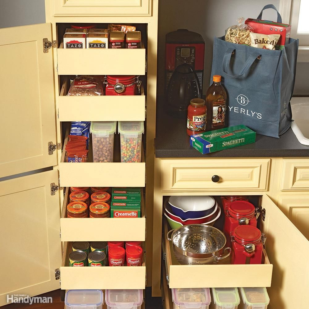 Best Kitchen Gallery: 7 Roll Out Cabi Drawers You Can Build Yourself Workshop of Cabinet Pantry Kitchen Handyman Building on rachelxblog.com