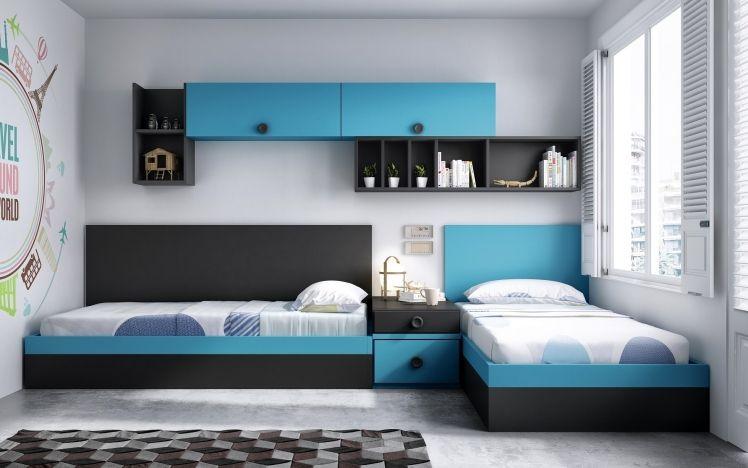 Dormitorio juvenil 0590f456 montessori pinterest - Habitaciones dos camas decoracion ...