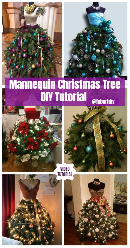 Dress Form DIY Mannequin Christmas Tree Tutorial - Video