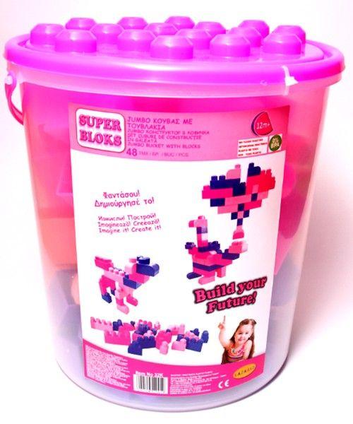 5729b7ce0f1 ΠΑΙΧΝΙΔΙΑ: Jumbo Κουβάς με Τουβλάκια Κορίτσι | Παιχνίδια