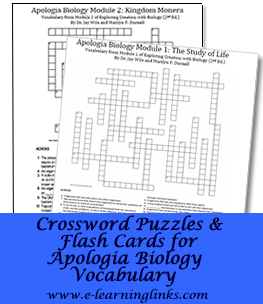 Crossword puzzles and flashcards for apologia biology vocabulary crossword puzzles and flashcards for apologia biology vocabulary huge help malvernweather Images