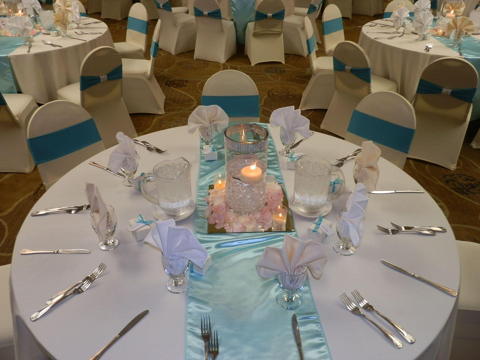 Simple wedding decoration ideas for reception  PJPG   boda  Pinterest  Tiffany blue Wedding