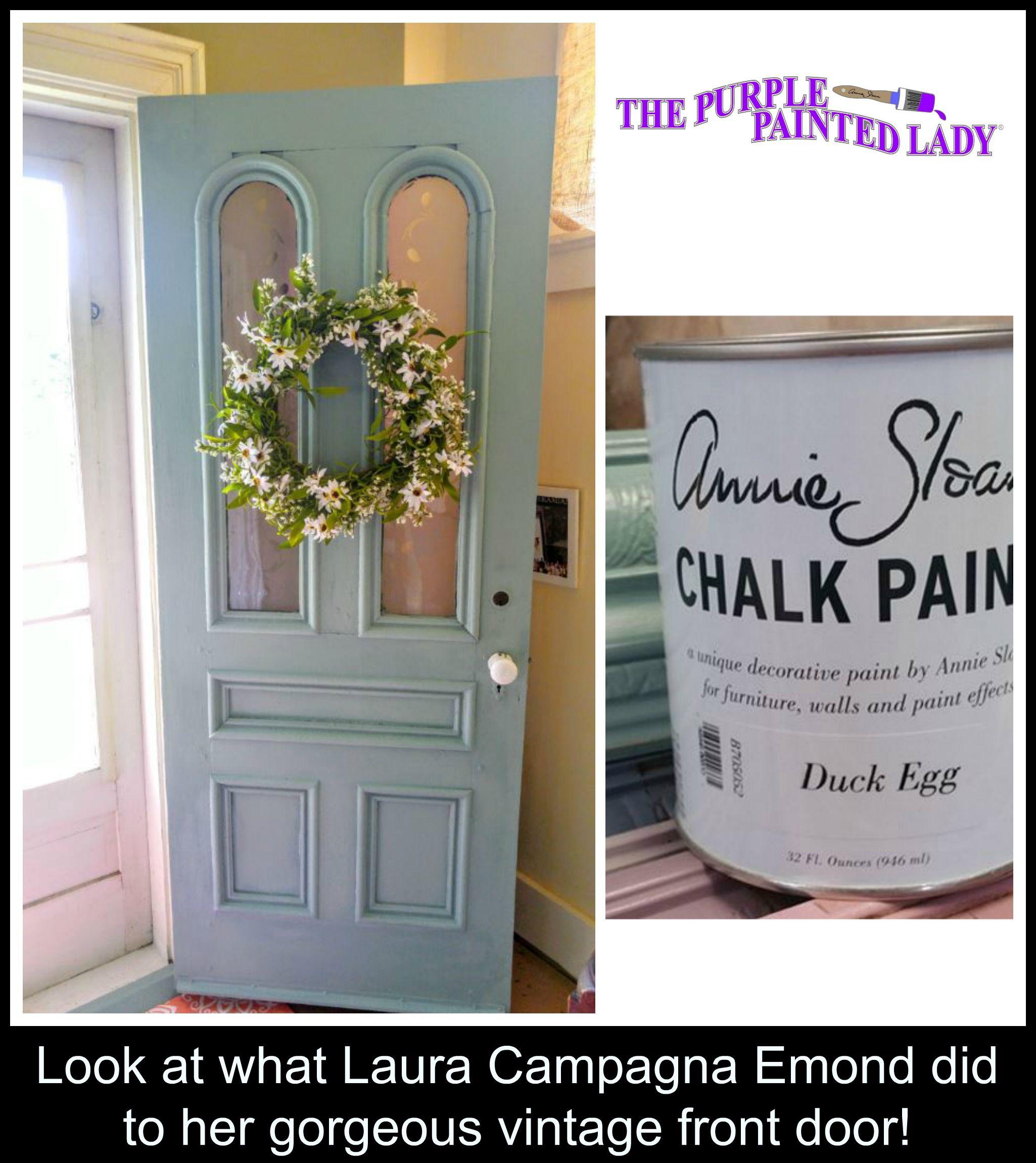 Duck Egg Chalk Paint Shut The Front Door In
