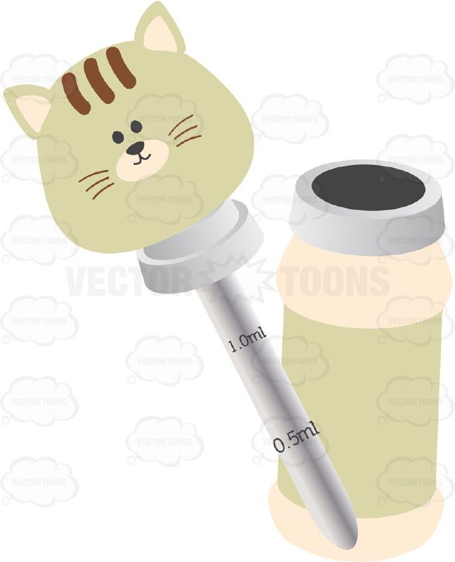 Glass Liquid Baby Medicine Dropper With Kitty Head And Bottle Baby Medicine Bottle Medicine
