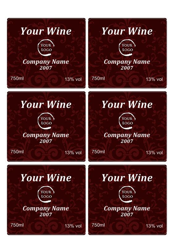 Free Wine Label Downloads | Wine Label Template | Projects to Try ...