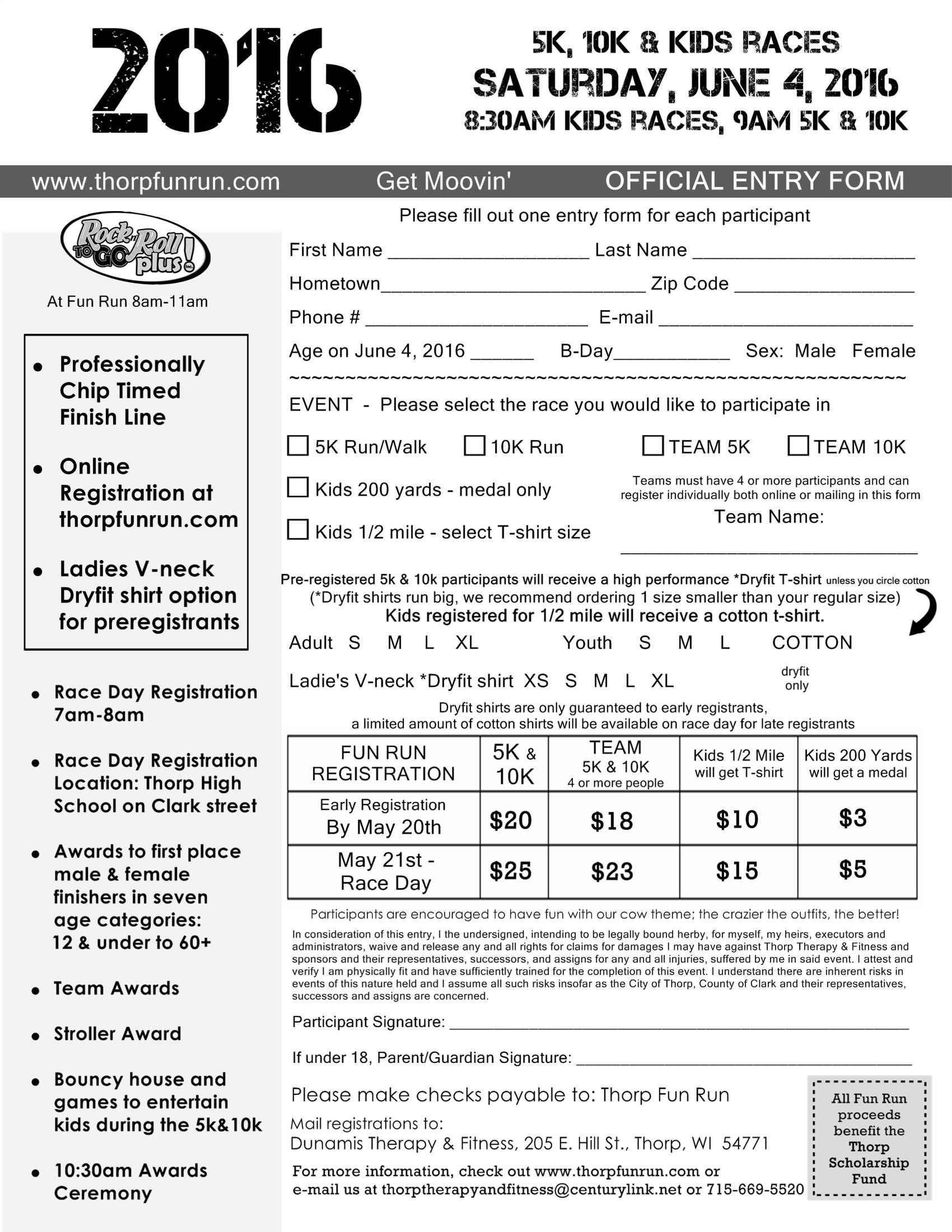 5k registration forms Image result for 5k registration form | Band mom | Pinterest ...