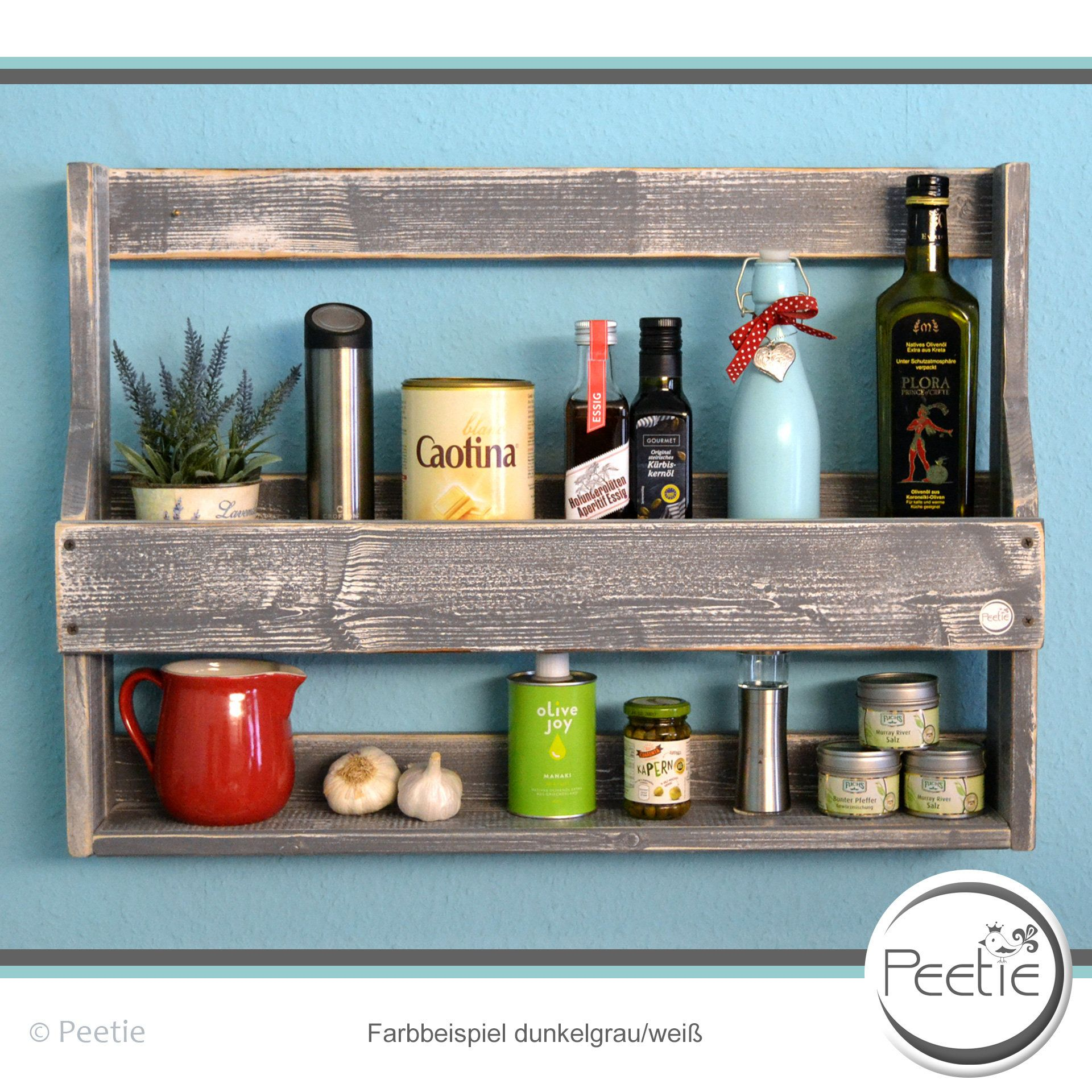 Shabby Küchenregal Vintage Shabby Spice Rack Kitchen Shelf Individually Dark