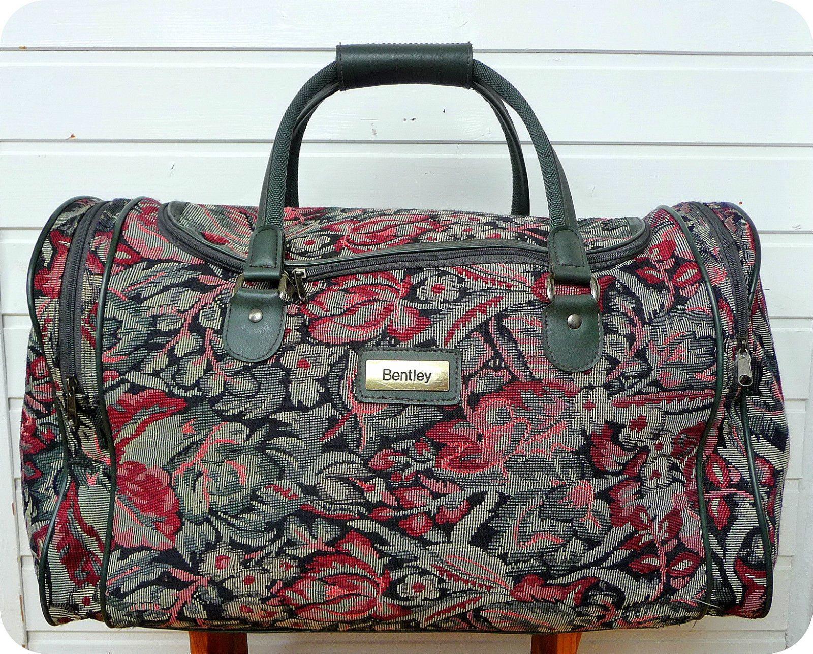 VINTAGE BENTLEY Reisetasche Weekender Tasche Boho Travel Bag Gobelin ...