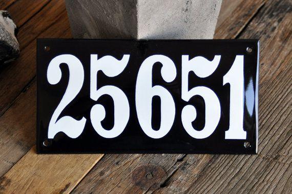 Enamel Door Sign Or Name Plate 4 3 4 X 4 12 X 10 Cm House
