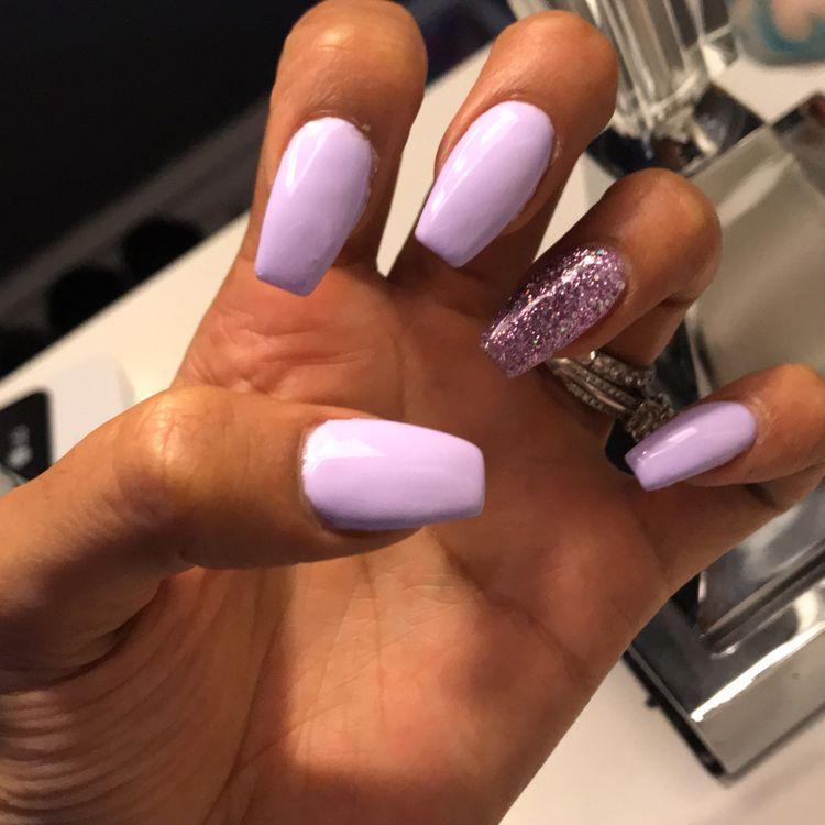 Light Purple Coffin Nails Purple Acrylic Nails Summer Nails Colors Designs Spring Nail Colors
