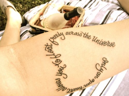 Heart Shaped Tattoos With Words Of words creating a shape. ""